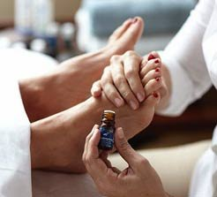 Essential oils on the feet travel throughout entire body in 10-15 minutes!